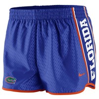 Nike Florida Gators Womens Chainmaille Pacer Performance Shorts - Royal Blue