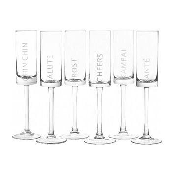 Celebration Champagne Flutes S/6