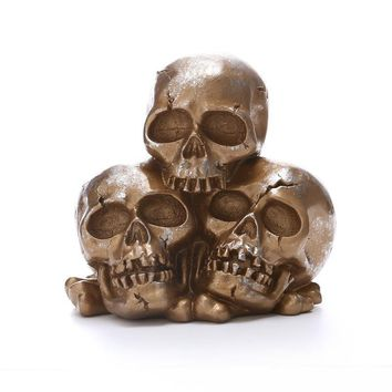 Skull Skulls Halloween Fall Halloween Home Decoration Accessories  Statue&Sculpture Resin Skeleton Statues For The Haunted House Decoration Calavera