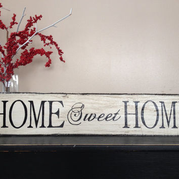 "READY TO SHIP...Lovely Handmade ""home sweet home"" sign"