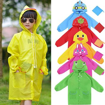 Waterproof Clothing Cute Cartoon Animal Model Children Raincoat Oxford Cloth