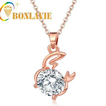 Rose Gold Color Cancer Zodiac Necklace & Pendant