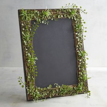 Chalk Menu Board with Greenery