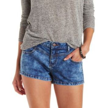 Med Wash Denim Push Up Shorts by Charlotte Russe