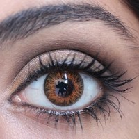 FRESHLOOK COLORBLENDS HONEY Circle Lenses Colored Contacts Cosmetic Color Circle Lens   EyeCandy's