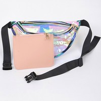 Holographic Transparent Fanny Pack (Zipper Pouch Included)