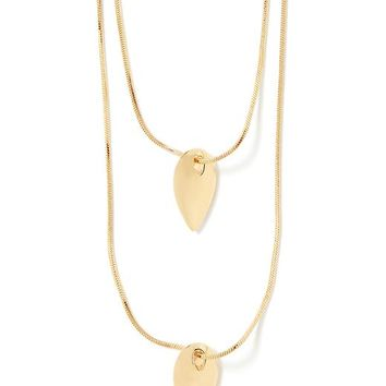 Banana Republic Teardrop Pendant Necklace Size One Size - Gold