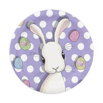 Easter bunny paper plate