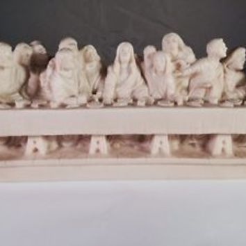 "RARE Vintage ""The Last Supper Sculpture""- Religious- Jesus- Signed (A Giannetti)"