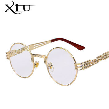 Gothic Steampunk Sunglasses Men Women Metal High Quality UV400