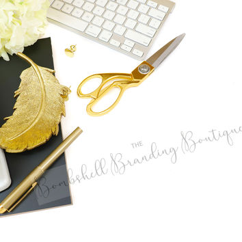 Styled Stock Photography - Black, White, and Gold - Stock Photography for Branding Your Business - Branding & Business Stock Photos