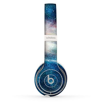 The Blue & Gold Glowing Star-Wave Skin Set for the Beats by Dre Solo 2 Wireless Headphones
