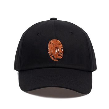 Crying Jordan Black Embroidered Dad Hat