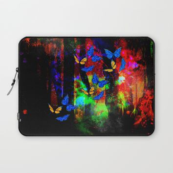 butterfly forest Laptop Sleeve by Haroulita