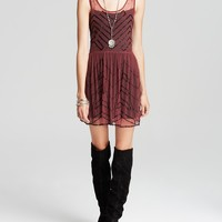 Free People Slip Dress - Embellished Mesh