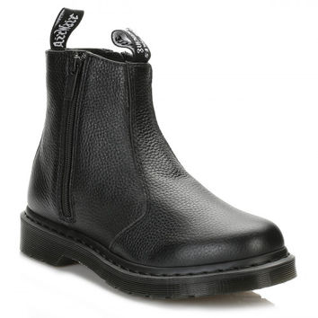 Dr. Martens Womens Black Zip Up Leather Chelsea Boots