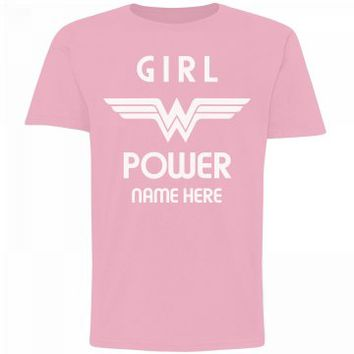 Custom Name Wonder Woman Girl Power