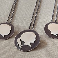Personalized Sterling Silhouette Necklace | Personalized Gifts | Bespoke Custom Gifts