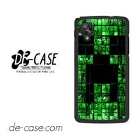 Creeper Minecraft Wall For Google Nexus 5 Case Phone Case Gift Present
