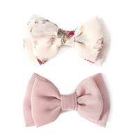 Bow Hair Clip Set
