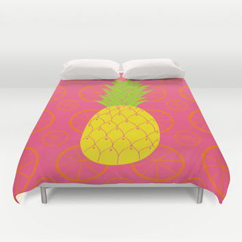 Pineapple  Duvet Cover by Ariel Lark