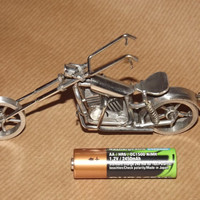 stainless steel harley chopper by smeekenny on Etsy