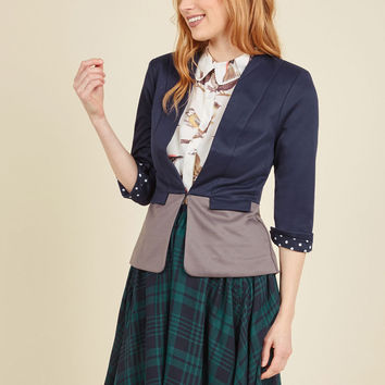 Command the Conference Room Blazer in Navy | Mod Retro Vintage Jackets | ModCloth.com