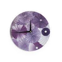 "Heidi Jennings ""Lavender Wishes"" Purple Wall Clock"