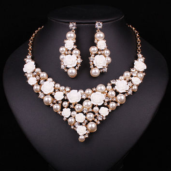 Bridal Necklace Earring For Brides