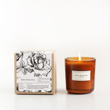 Rose Botanica Amber Glass Candle
