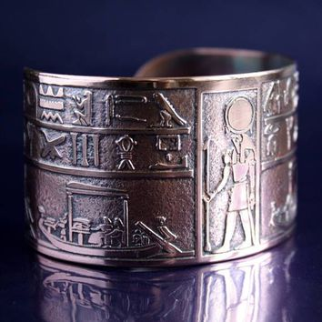 Egyptian Bracelet, Hieroglyphics, Egyptian art,