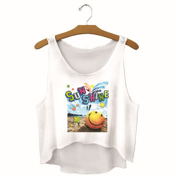 Womens Sunshine Printed Show Hilum Tank Top Sports Vest Summer Gift - 12