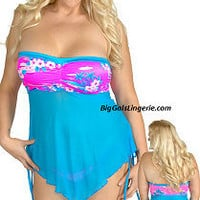 Full figured plus size swimwear bathing suits bikinis covers bbw summer wear from BigGalsLingerie page 2