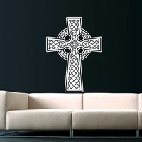 Celtic Cross Wall Decal Celtic Cross Decals Wall Vinyl Sticker Interior Home Decor Vinyl Art Wall Decor Bedroom SV5848