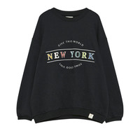 Colourful text sweatshirt - Prints - Sweatshirts & Hoodies - Clothing - Woman - PULL&BEAR Malaysia