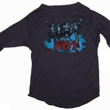 Rowdy Sprout Kids Kiss Band Vintage Thermal Shirt