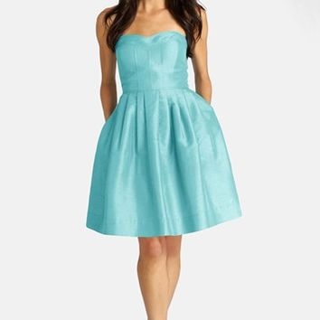 Women's Donna Morgan Seamed Shantung Fit & Flare Dress