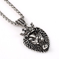 King Lion Silver Necklace