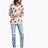 Open Floral Pullover | Lucky Brand