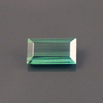 Tourmaline: 1.62ct Green Emerald Shape Gemstone, Natural Hand Made Faceted Gem, Loose Precious Mineral, Cut Crystal AAA Jewelry Supply 20193