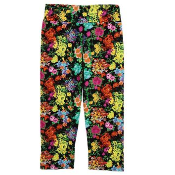 Vintage High Waist Floral Sports Leggings Printing Capris Lady's Fitness Workout Casual Pants Running Gym Pants Outdoor Wear