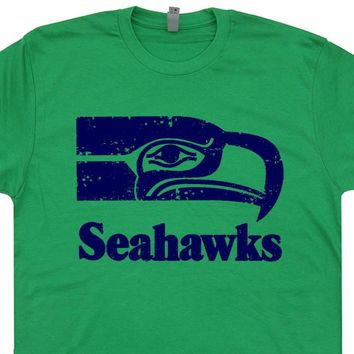 Seattle Seahawks T Shirt Vintage Seattle Seahawks Shirt Retro Seahawks Logo Tee