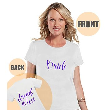 Drunk In Love Shirt - Bride Shirt - Purple Wedding T-shirt - Bride To Be Bachelorette Top - Custom Women's Shirt - Bridal Party Outfit