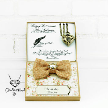 Teacher appreciation gift Teacher retirement gift Teacher gift Teacher personalized gift Necklace watch gift Class of 2016 Thank you gift