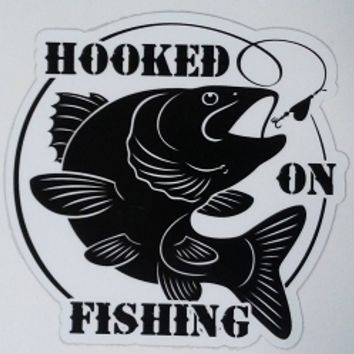 Hooked On Fishing Tumbler Decal / Sticker