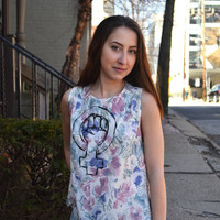 Feminist Floral Tank