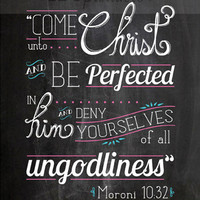 Come Unto Christ printable 2104 LDS Youth Mutual Theme Chalk Board Print