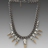 8 Other Reasons Verses Necklace in Gunmetal/Clear/Gold