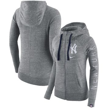 New York Yankees Nike Women's Vintage Full-Zip Hoodie - Gray