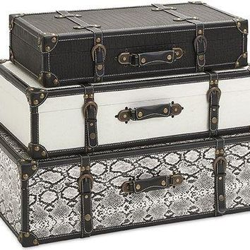 Aberdeen Storage Trunks - Set of 3